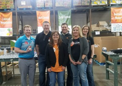 Volunteering Group at Feeding America